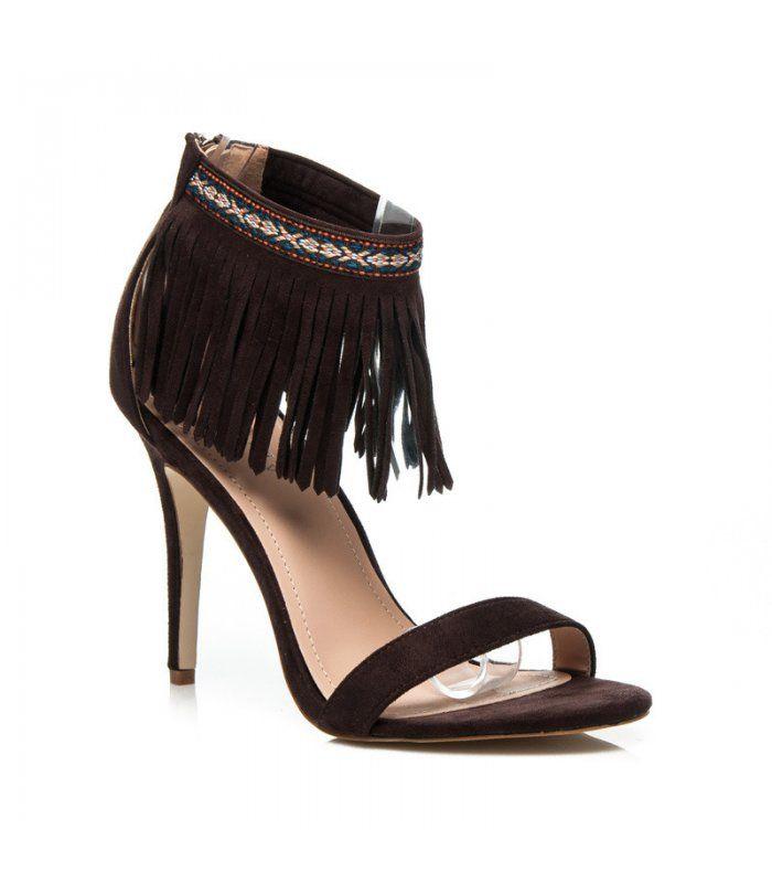 Hnedé boho sandále 628-126BR