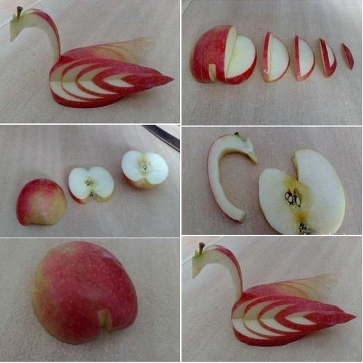 How to make Apple Swan step by step DIY tutorial instructions, How to, how to do, diy instructions, crafts, do it yourself, diy website, art project ideas