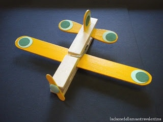 airplane clothes pin craft