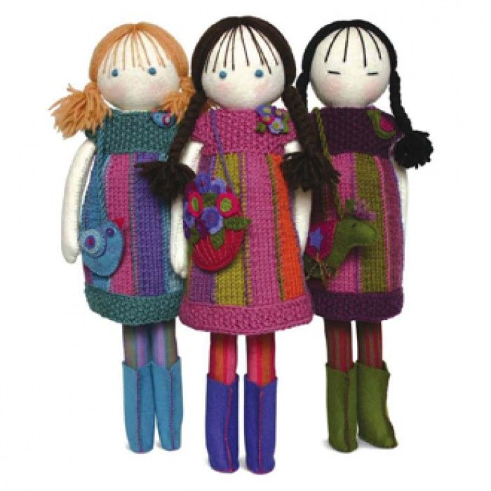 Handmade felt dolls and accessories pattern book