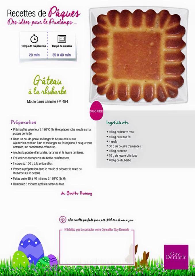Gâteau a la rhubarbe