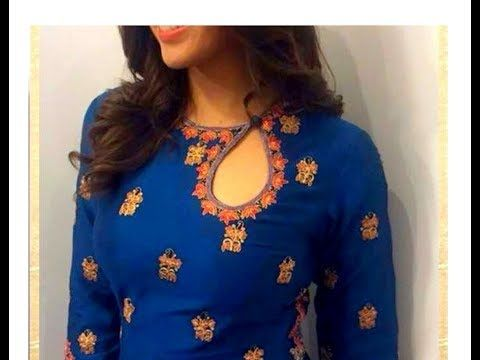 HOW TO MAKE BOAT NECKLINE  for KURTIS / SALWAR KAMEEZ / BLOUSES - CUTTING AND SEWING - DIY - YouTube