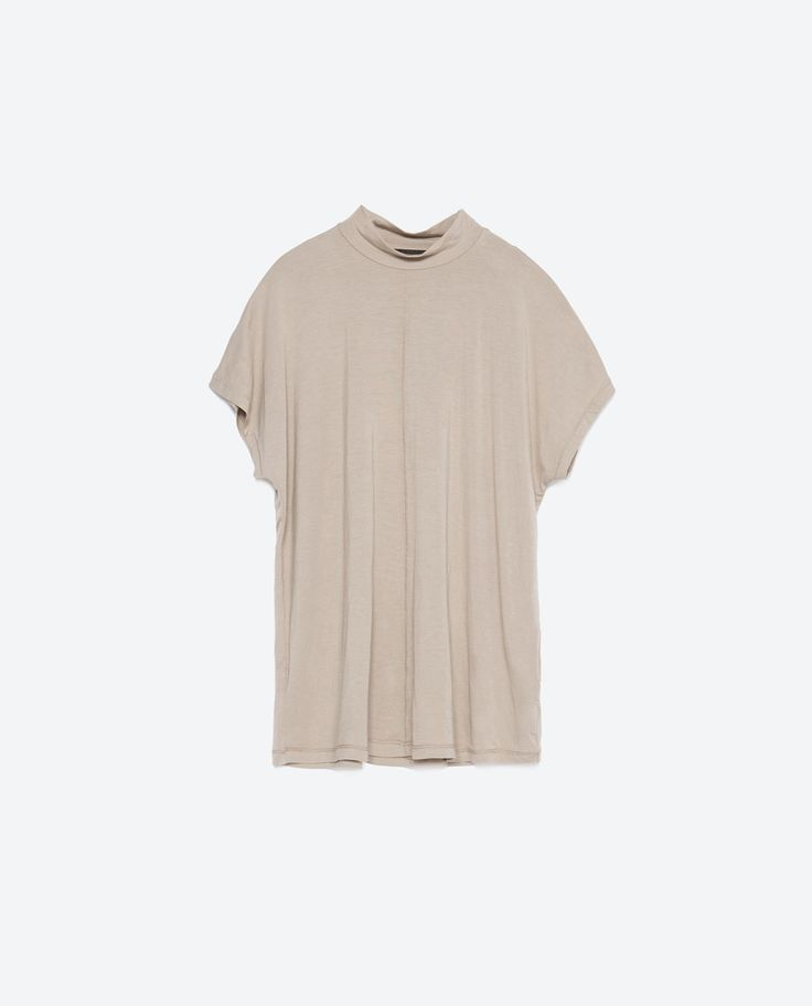 Image 6 of HIGH NECK T-SHIRT from Zara