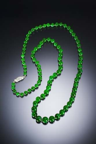 79 Best Jadeite Necklaces Beads Images On Pinterest
