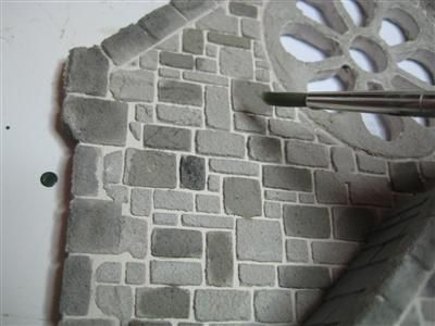 Dolls House Stone, tiled roof and hardwood effects.