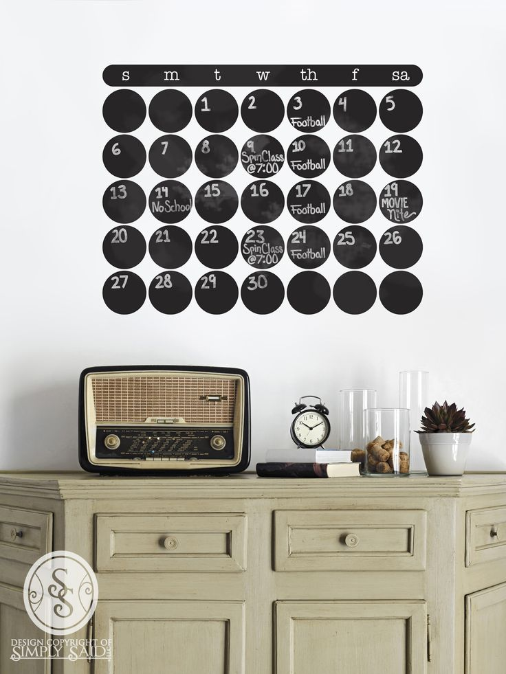Beautiful Calendar wall decal!! | Simply Said Designs