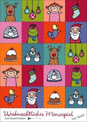 Weihnachtliches Memospiel
