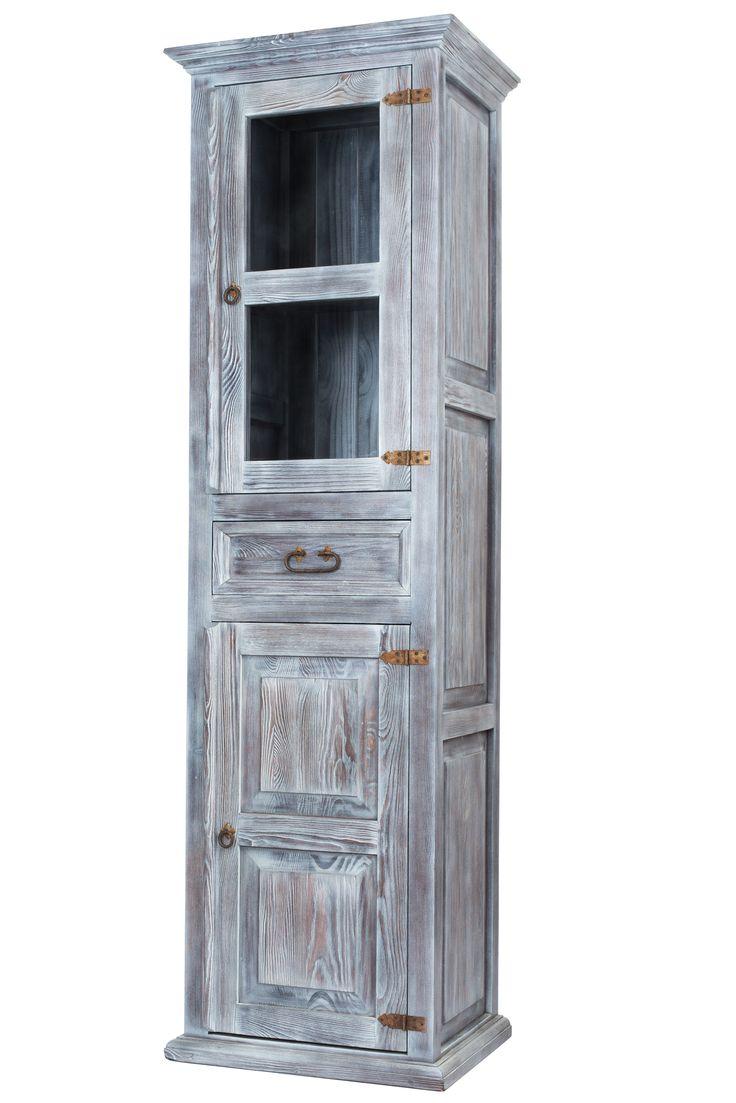 Rustykalna witryna poddana procesowi strukturyzacji. #rustykalne #kolorowe #meble #drewniane #dekoracje