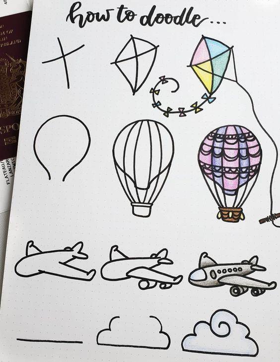 31 Einfache Kritzeleien die Sie ganz einfach in Ihr Bullet Journal kopieren kön
