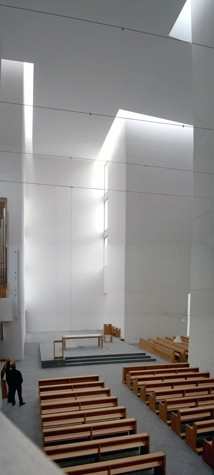 Interior in San Sebastián, Spain; designed by Iglesia de Iesu Rafael Moneo.
