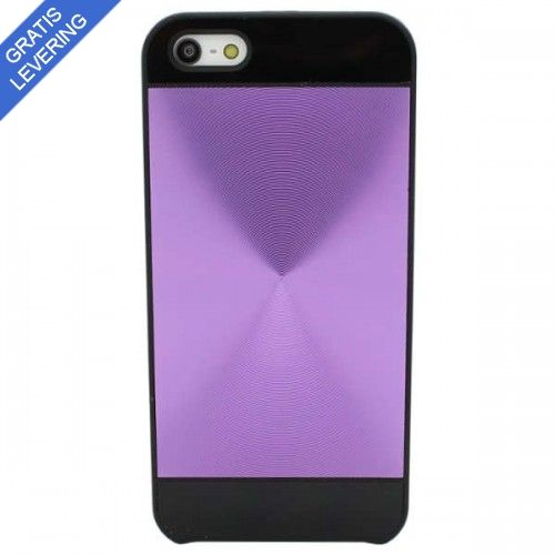 iPhone 5/5S Hybrid Cover I Sort/Lilla