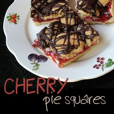 Cherry Pie Squares (OMG!  Sounds like Heaven!  Uses the Cherry Pie Filling recipe that I posted!)