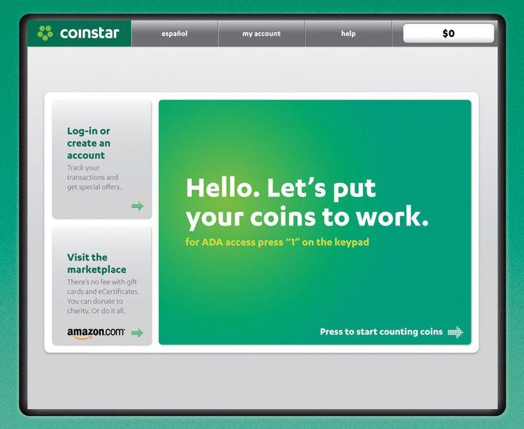 Coinstar Kiosk UI