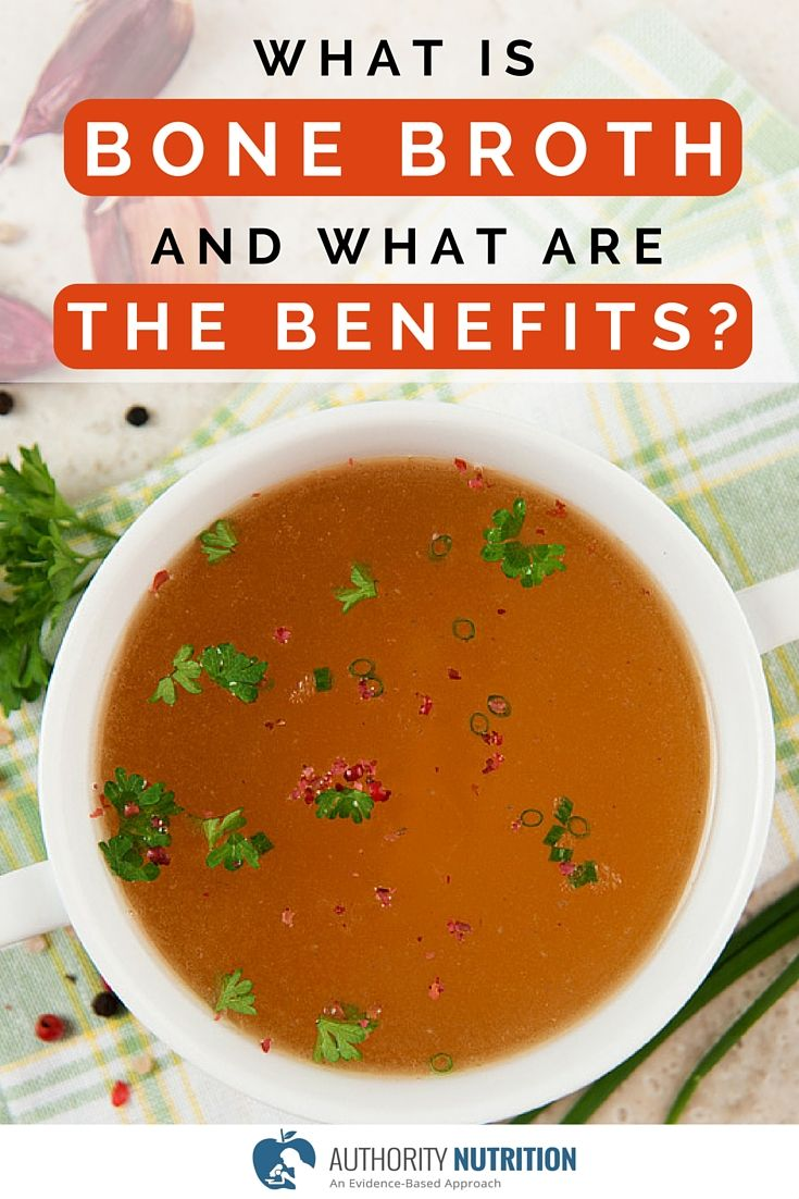 This is a detailed article about bone broth and its health benefits. Bone broth is stock made from animal bones, and is high in many nutrients. Learn more here: http://authoritynutrition.com/bone-broth-101/