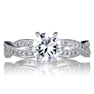 simple devera us twisted cubic zirconia engagement ring kmart - Wedding Rings At Kmart