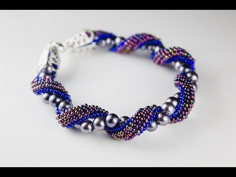 Twisted brick stitch bracelet (1/2) ~ Seed Bead Tutorials