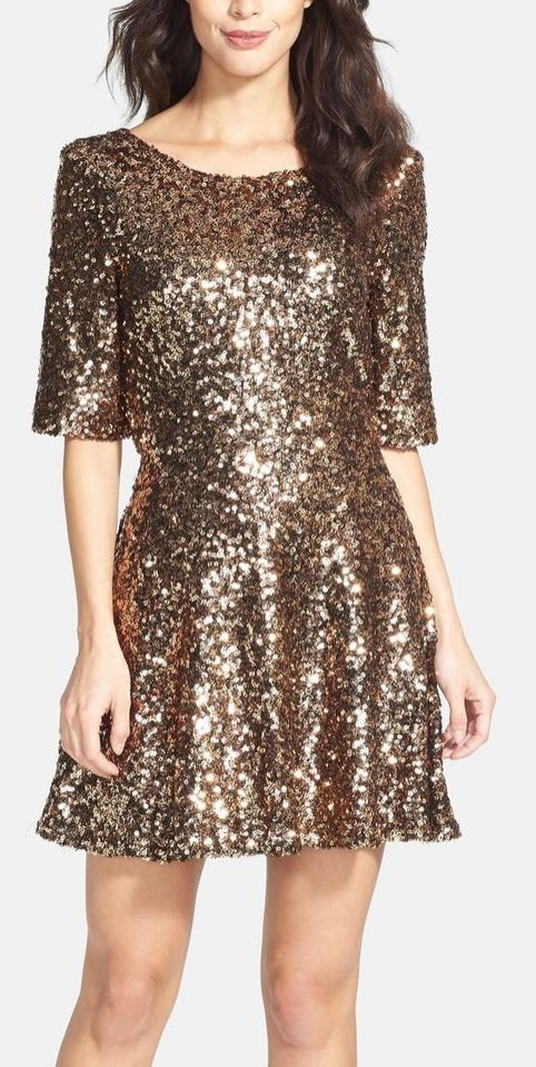 Metallic party dress