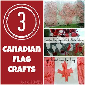 And Next Comes L: Three Canadian Flag Crafts