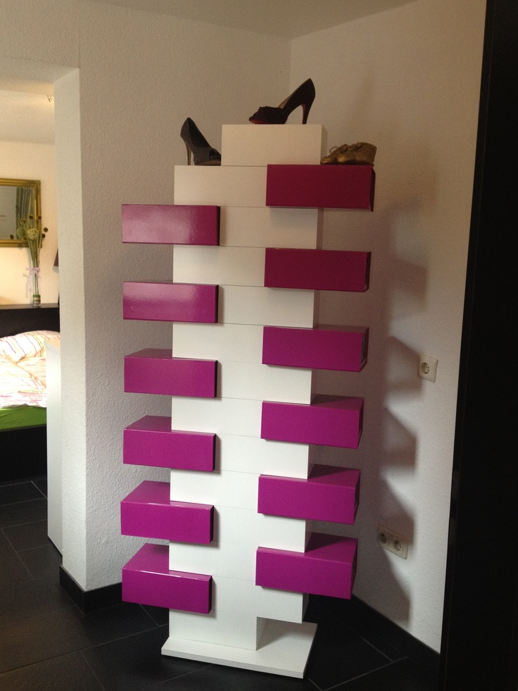1000 images about we schuhschr nke on pinterest shoe closet space saving and diy shoe rack. Black Bedroom Furniture Sets. Home Design Ideas