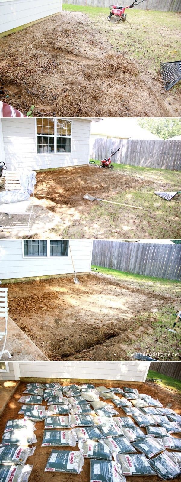 backyard bliss: installing patio pavers and a fire pit {diy patio} {diy fire pit}the handmade home
