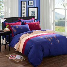 Роскошные постельные принадлежности устанавливает вышивка 4 шт. 100% хлопок Silkfeeling жаккардовые и…