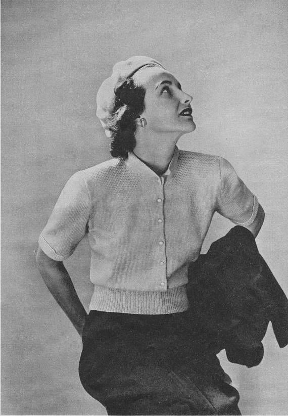 1950s Sweater Blouse