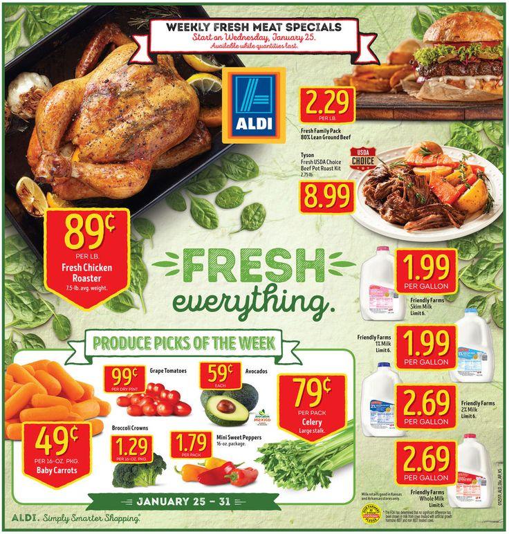 Aldi Weekly Ad January 25 - 31, 2017 - http://www.olcatalog.com/grocery/aldi-ad.html
