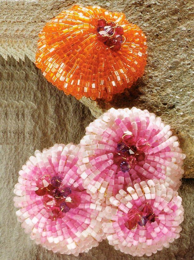 красивые круглые цветы из