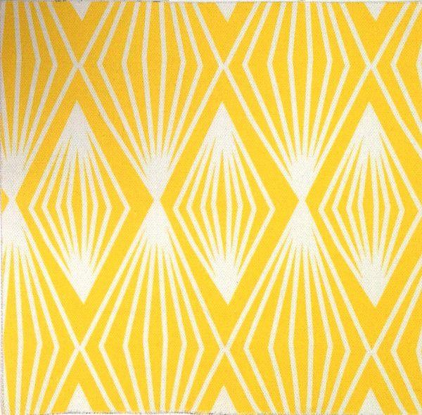 Triangles & Diamonds Fabric. Designed by Petra from Perunoto. £50.00 per metre. Yellow. www.jessandjules.co.uk