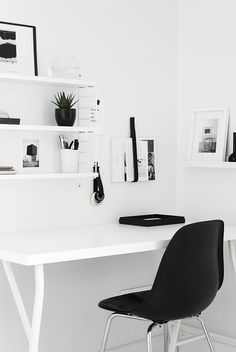 Black and white and minimal all over More