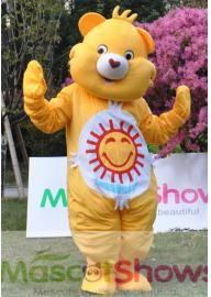 Costume de Mascotte de Bisounours jaune