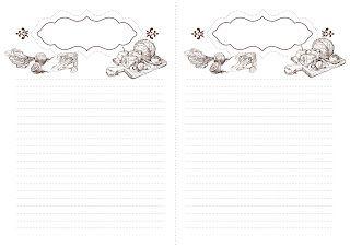 Красивые вещи: Листы для кулинарного блокнота