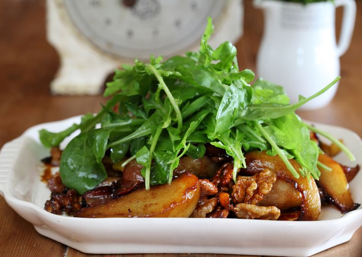 Baked Pear Salad with Belly Bacon and Walnuts - Maggie Beer