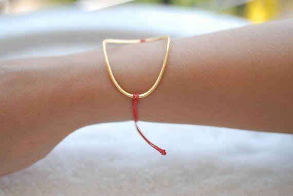 Handmade Minimal Bracelet Goldplated Sterling by VickyKyritsi