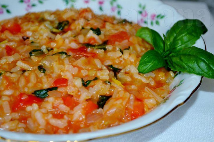 Risoto de Tomates com Manjericão | Veganana