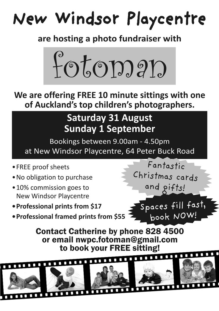 • FREE 10 minute top photo sessions for family - Auckland NZ!