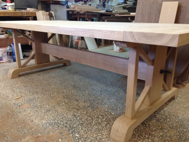 Solid Wood Table (Oak) for a traditional house in Paros Island Greece