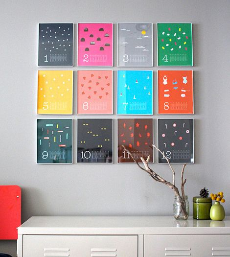 Great calendar, simple but colorful. Like how it's displayed here all in one block. Too bad it's already sold out!