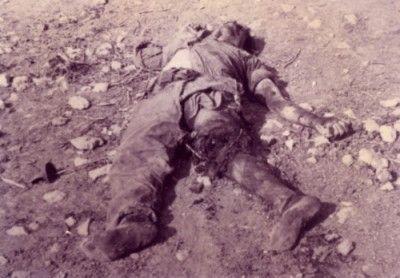 Λιοπέτρι 30/8/1958.Ο Φώτης Πίττας νεκρός από τα θεριστικά πυρά των Βρετανών.
