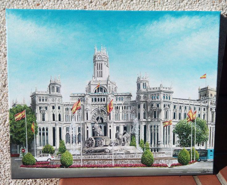 Palacio de la Cibeles. Óleo sobre lienzo 40x50 cm.