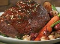 Bottom round roast oven or crockpot