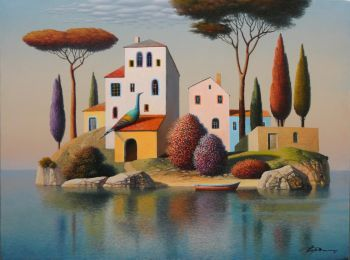 'Serenely surreal?Dream-like atmosphere where quietly magical things happen. His places have a profound peace.  Gordiets blend of surrealism and Impressionism - somewhere amidst Monet, Magritte and Dali, but in a style that is definitely and coherently his own - has brought him a good deal of international success and fame.'  - Victor Forbes, art critic  Evgeni Gordiets is world renown artist, surrealist, highly acclaimed, with a longstanding international reputation. His works currently…
