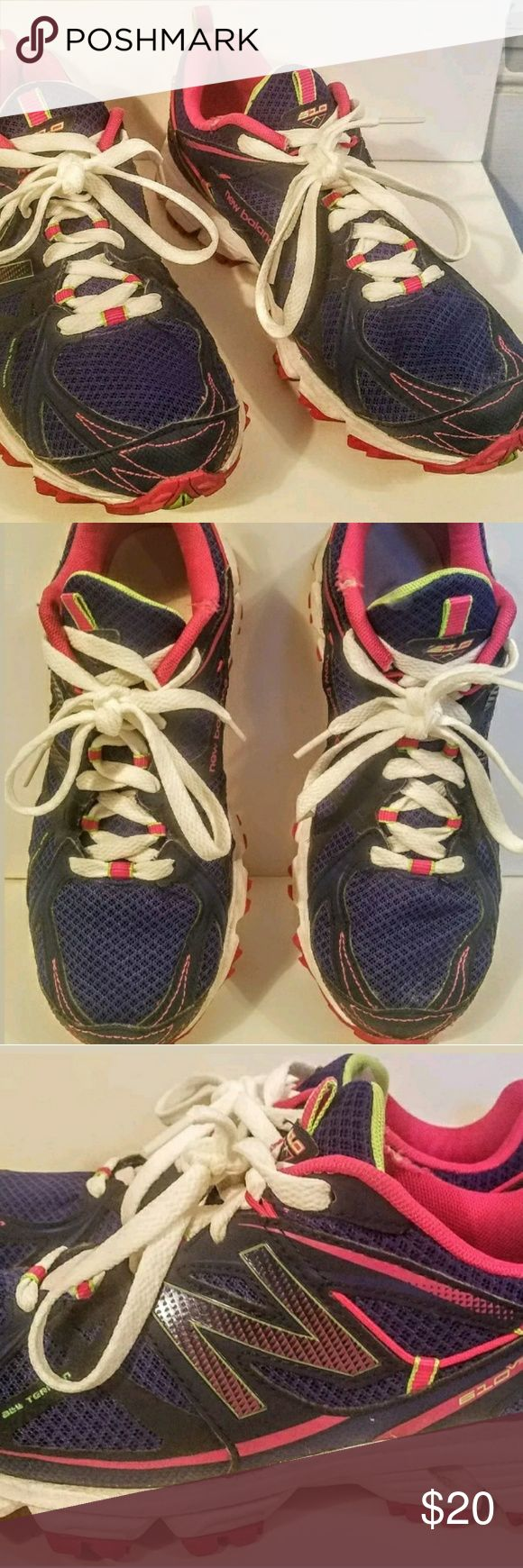 NEW BALANCE Hiking,Trail, All Terrain Sneakers 8.5 NEW BALANCE  Style- WT610BP2 610 V2  Hiking,Trail, All Terrain Sneakers  Women's US 8.5B   In great condition. Only sign of pre-owned use is on the hot pink trim. There is a pull New Balance Shoes Sneakers