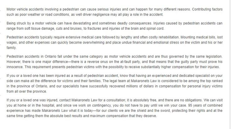 Makaronets Personal Injury Law 6568 Main St, Lower Level, #A Whitchurch-Stouffville, ON L4A 7W8 (800) 964-0361  https://makaronetslaw.ca/stouffville-personal-injury-law.html