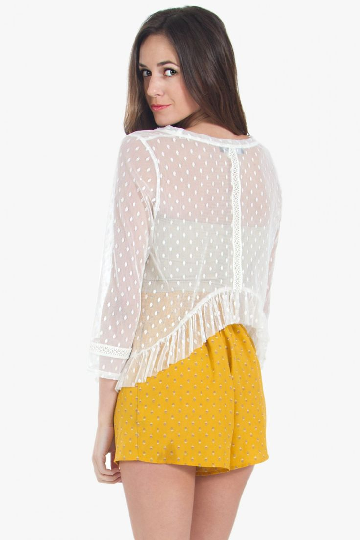 SWEETHEART SHEER SPOT TOP http://bit.ly/1xvwbFW www.Hipsterdolly.com