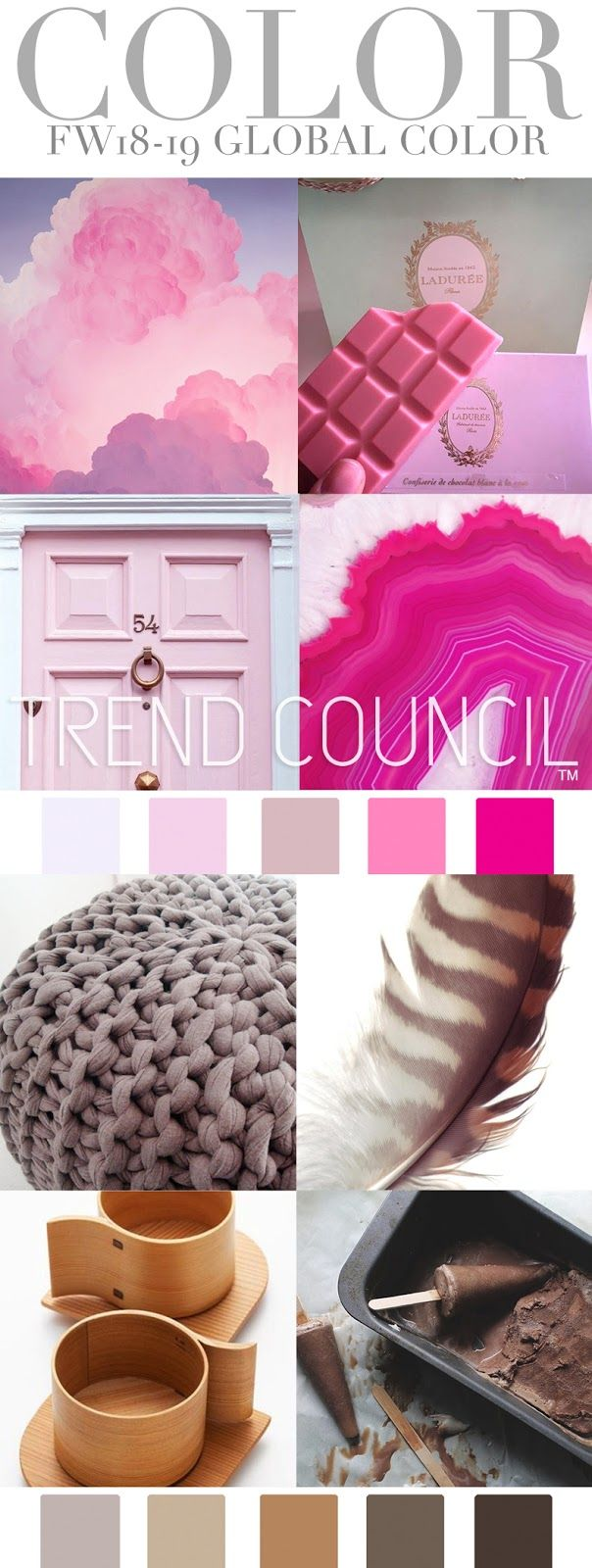 #2018trends #AW1819 #ColourTrends | Trend Council is a fashion trend forecasting company who delivers expert analysis and design inspirations. Their team provides a great wealth of consulting services for all your company's design needs