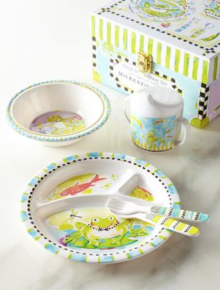 Mackenzie Childs MacKenzie-Childs Frog Toddler Dinnerware Set at Et Cetera  sc 1 st  Pinterest : kids plates and cups sets - Pezcame.Com