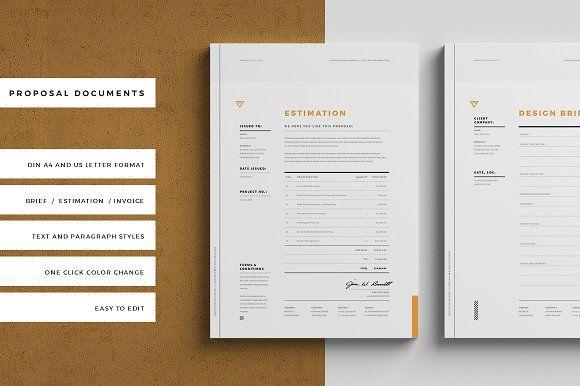 Brief Estimation Invoice Mood Board Template Invoice Template Stationery Templates