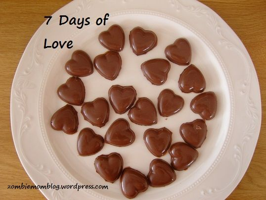Chocolate hearts for Valentine's Day.
