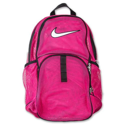 NEW NIKE MESH BACKPACK PINK BAG SPORTS GYM TRAVEL SPORTS SCHOOL DUFFEL CARRY ON #Backpack